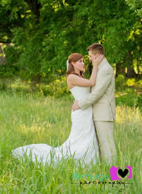 Wedding picture in a meadow