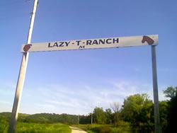 Lazy T Ranch Entrance
